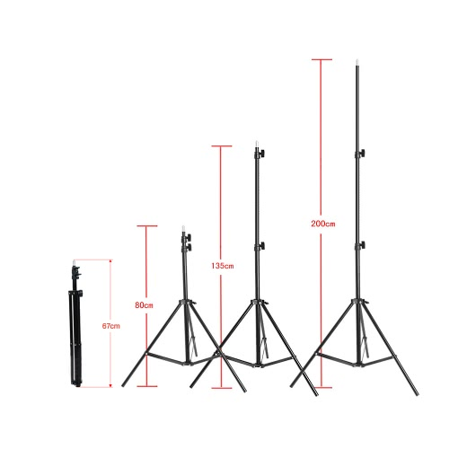 Photography/Video Portrait Umbrella Continuous Triple Lighting Kit from andoer