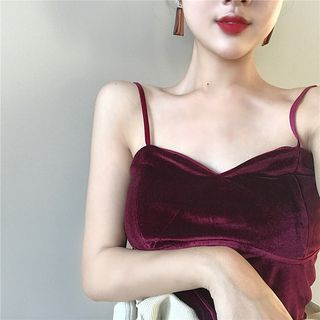 Spaghetti Strap Velvet Top from ever after