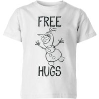 Frozen Olaf Free Hugs Kids' T-Shirt - White - 3-4 Years - White from frozen