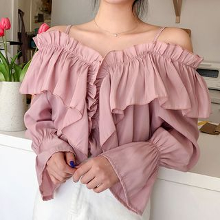 Off-Shoulder Frilled Blouse from icecream12
