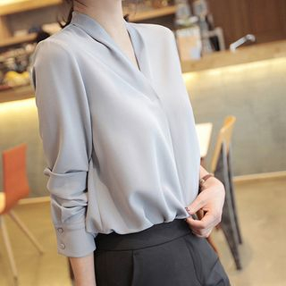 Plain Chiffon Blouse from inim