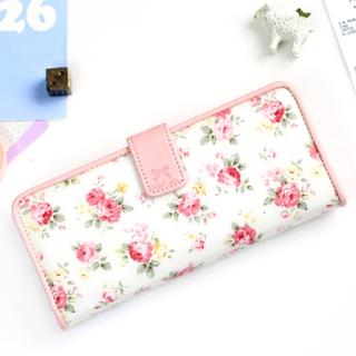 Floral-Print Long Wallet from iswas