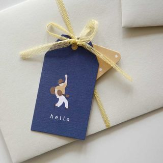 Gift Tag Blue - One Size from iswas