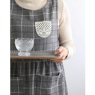 Lace Pocket Check Apron from iswas