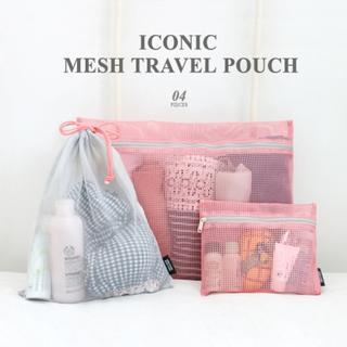 Set of 4: Iconic Series Mesh Pouch from iswas