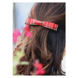 Bow Checked Hair Pin One Size from kitsch island