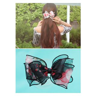 Floral Print Bow Hair Pin from kitsch island