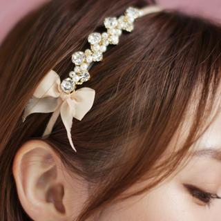 Rhinestone Bow-Accent Head Band from kitsch island