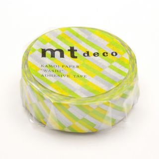 mt Masking Tape : mt 1P Block Stripe Green One Size from mt