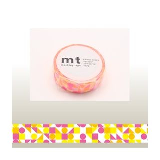 mt Masking Tape : mt 1P Cricle Triangle & Square (Pink) from mt