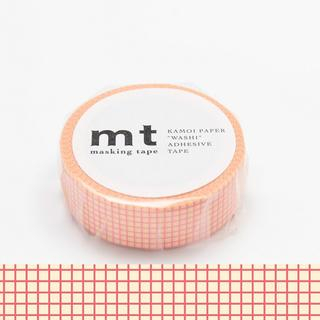 mt Masking Tape : mt 1P Grid Peach on Cream from mt