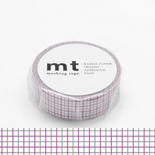 mt Masking Tape : mt 1P Grid Purple x Grey from mt
