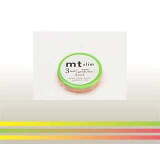 mt Masking Tape : mt slim 3mm Neon Gradation from mt